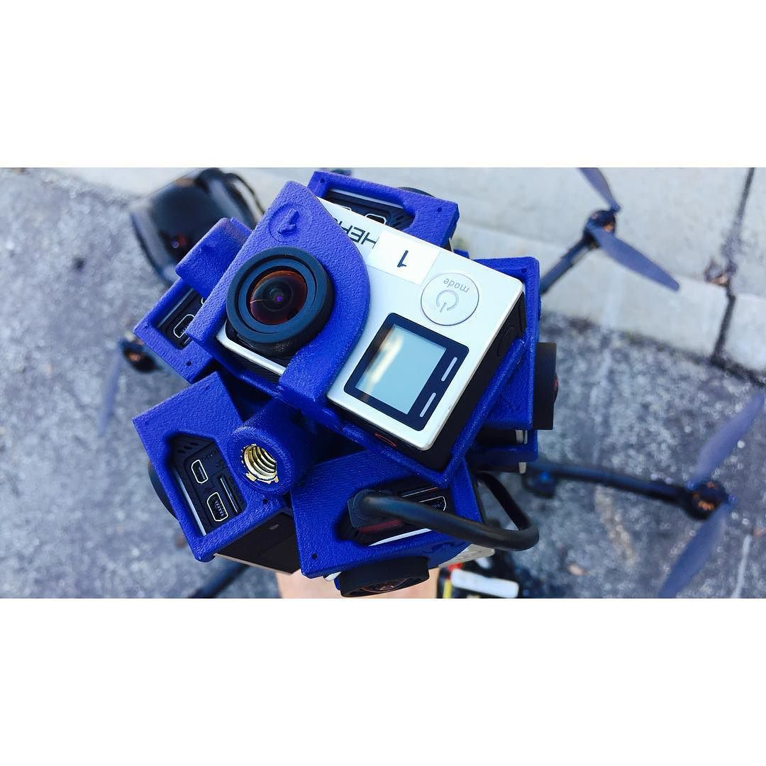 An awesome Virtual Reality pic! We top mounted this VR ball of @gopro 4K cameras onto a @freeflysystems Alta drone!  . Photo by @precisionpilot . #dronedudes #gopro #vr #360 #360drone #drone #fpv #multrotor #virtualreality #oculusrift #freeflyalta #gopro4 #prolevel #creative #media #capture #film . WWW.DRONEDUDES.COM by dronedudes check us out: http://bit.ly/1KyLetq