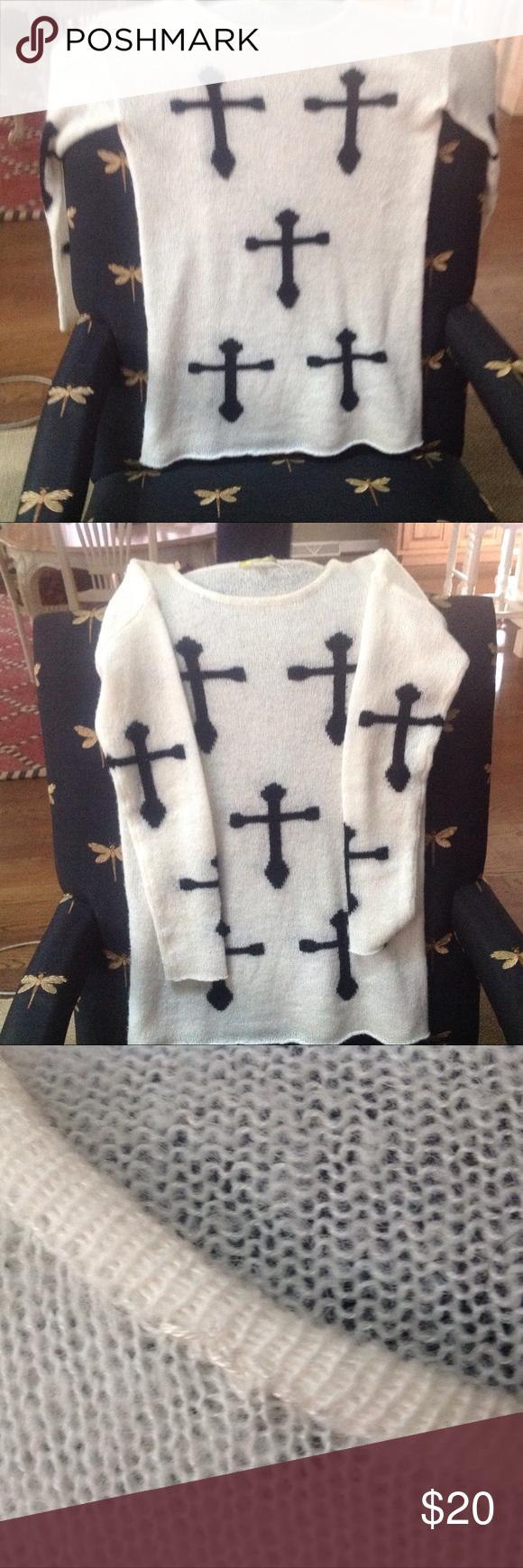 5d145a446b Gianni Bini cross sweater Bought on poshmark wrong type of fit. NWT longer  tunic sweater