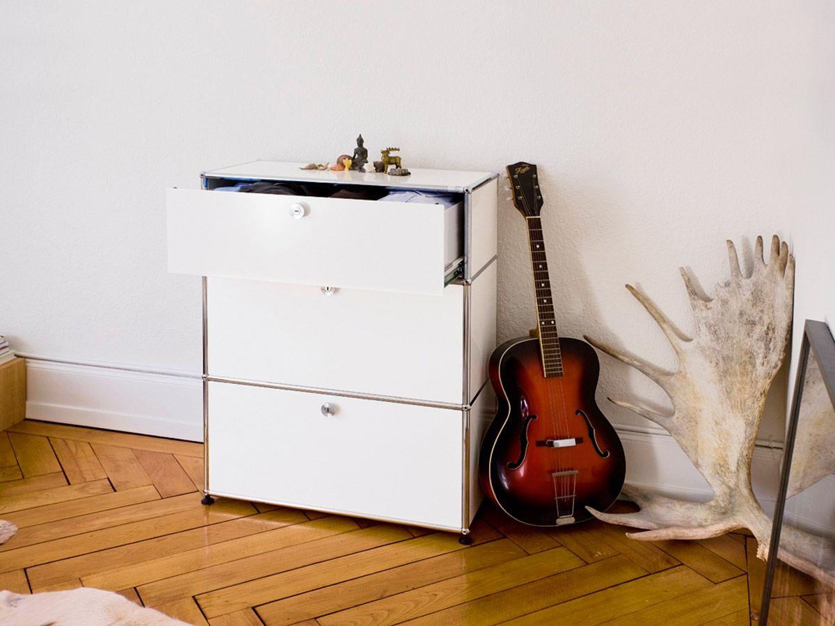 USM Haller Dresser With Three Drawers In Pure White. Www.usm.com