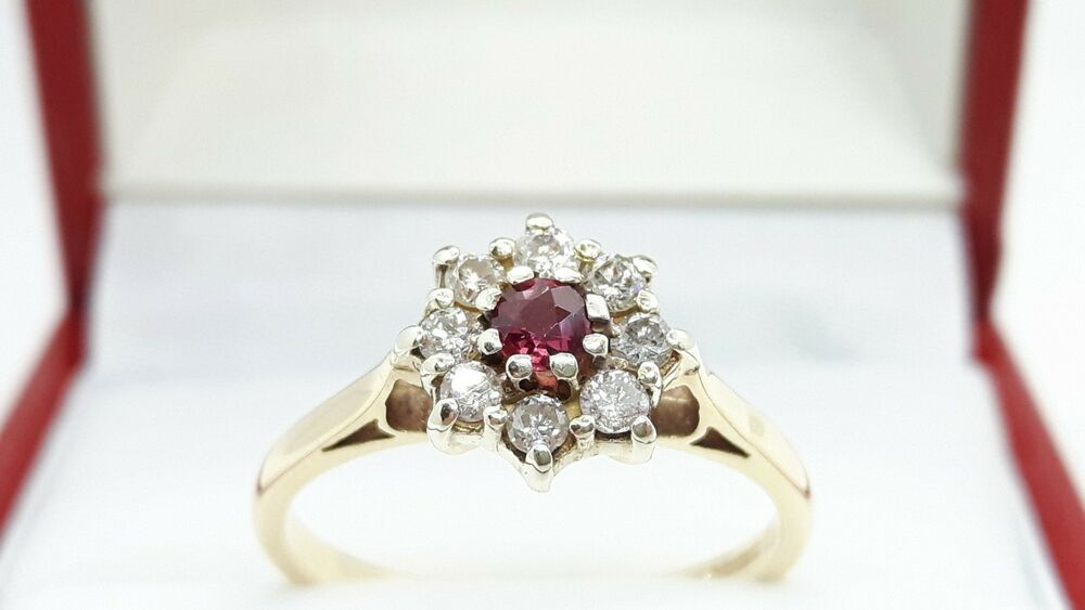 Details About Vintage 9ct Gold 035ct Natural Burmese Ruby
