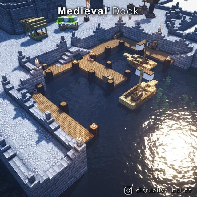 I made a Dock for a Medieval City!