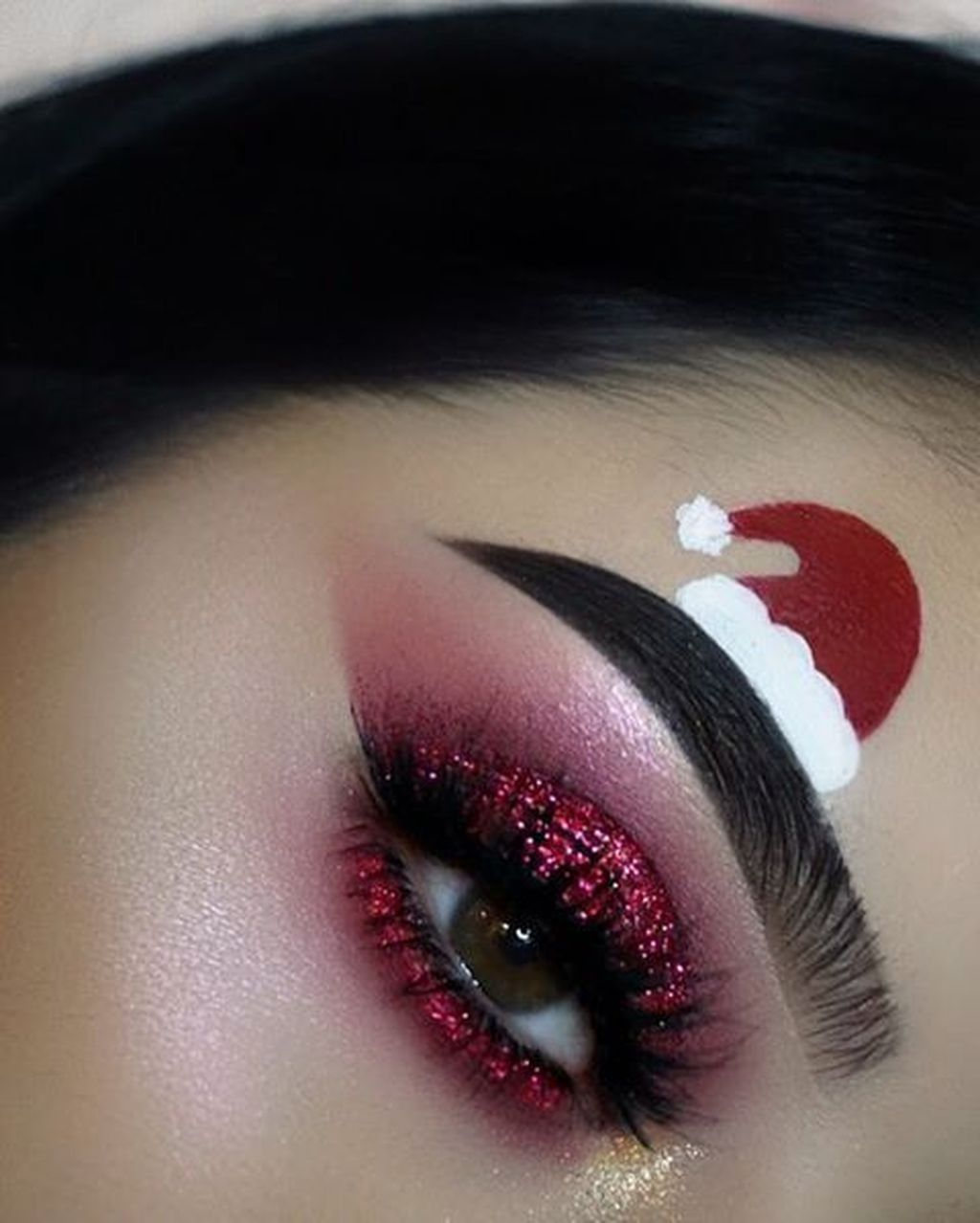 30+ Amazing Christmas Makeup Ideas #maquillagenoel