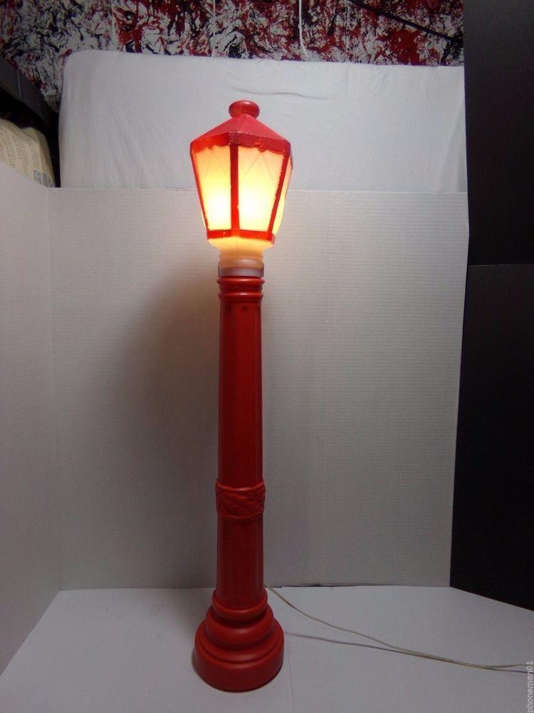 Vintage Christmas Lamp Post Blow Mold Empire Plastics 39 Christmas Decor 1969 Christmas Lamp Post Christmas Lamp Lamp