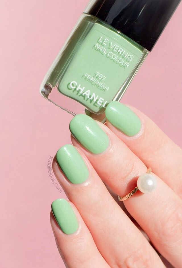 NIB!!! RARE CHANEL FRAICHEUR 767 Nail Polish Mint Green Similar To ...