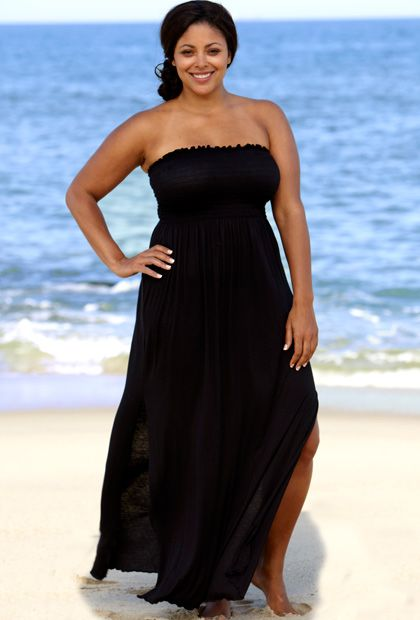 18d3a04fb4f Beach Belle® Punaluu Stones Plus Size Smocked Maxi Dress