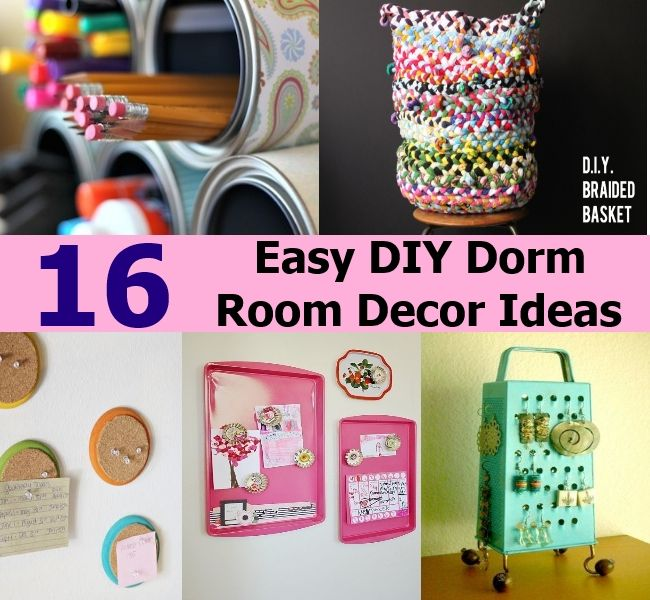 16 easy diy dorm room decor ideas - Easy Diy Decor