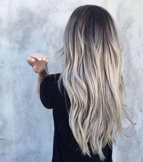 Les plus beaux balayages blonds sur cheveux longs #blondeombre