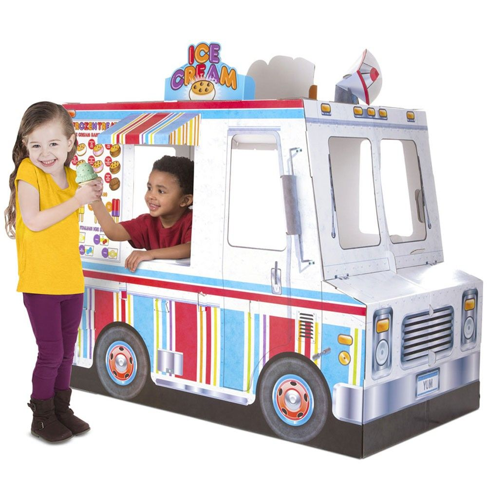 Food truck ice cream bbq grill indoor playhouse with