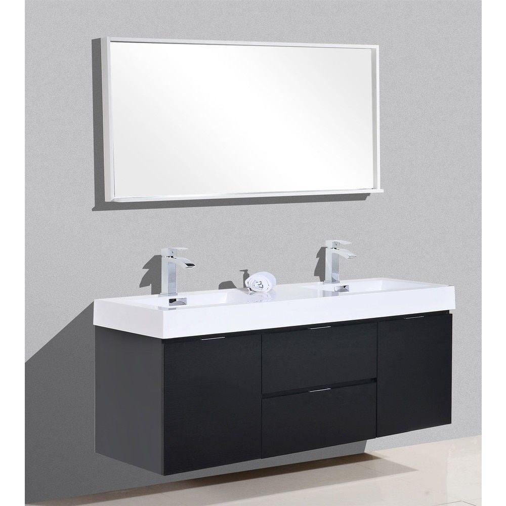 Kubebath Bliss 59 Inch Double Sink Bathroom Vanity Bathroom