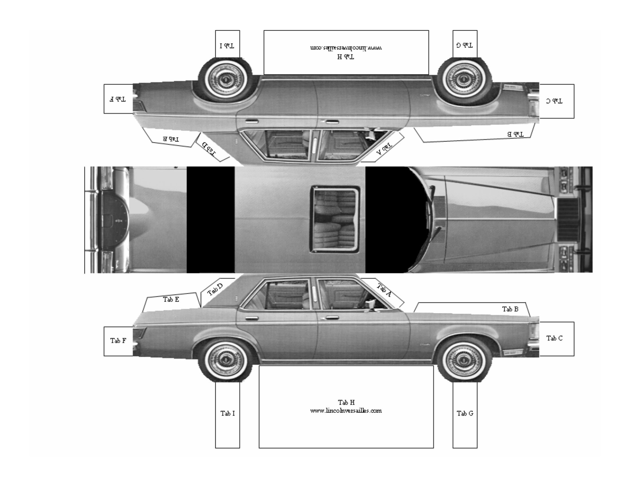 Make your own lincoln versailles paper model car