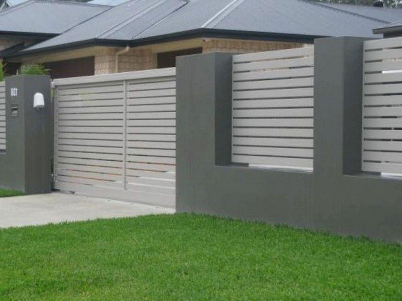 80 Amazing Garden Fence And Gates Design Ideas 99decor Fence Design Modern Fence Wood Fence Design Modern front garden fence ideas