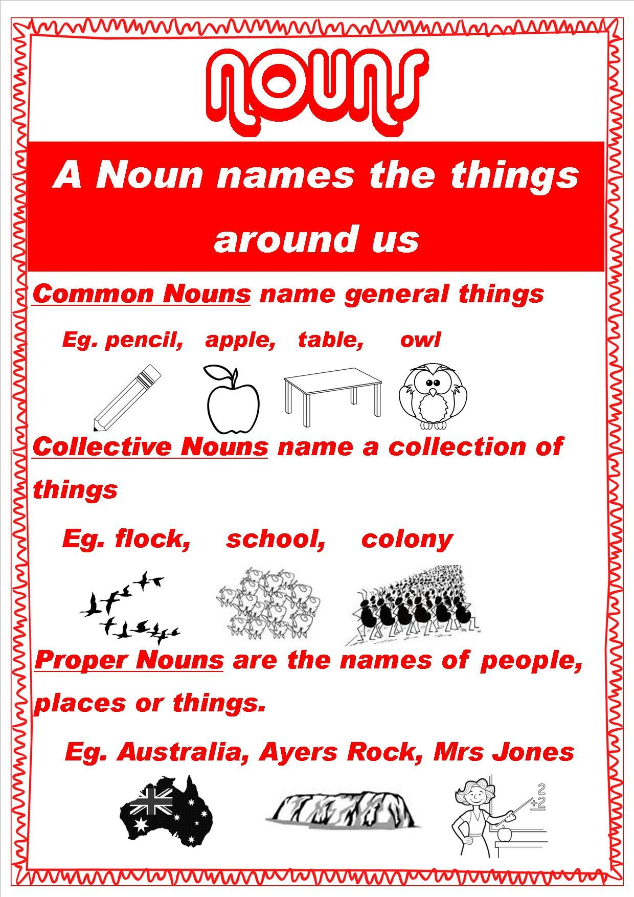 Grammar Posters For My Class This Year 4i Nouns Grammar Posters Nouns And Pronouns Nouns [ 1754 x 1240 Pixel ]