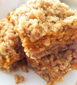 pumpkin bars with oat crust
