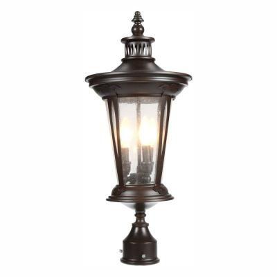 World Imports North Hampton 3 Light Outdoor Old Bronze Post Lantern Outdoor Post Light Fixtures Lantern Post Outdoor Post Lights