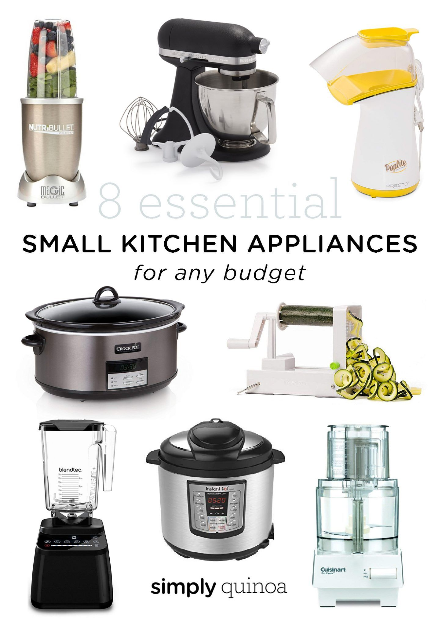 8 Essential Small Kitchen Appliances For Any Budget Small