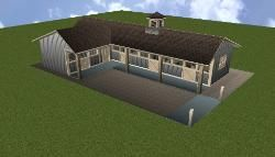 Shed Row Horse Barn Plans - Breeze Way Horse Barns Designs - Interesting Website