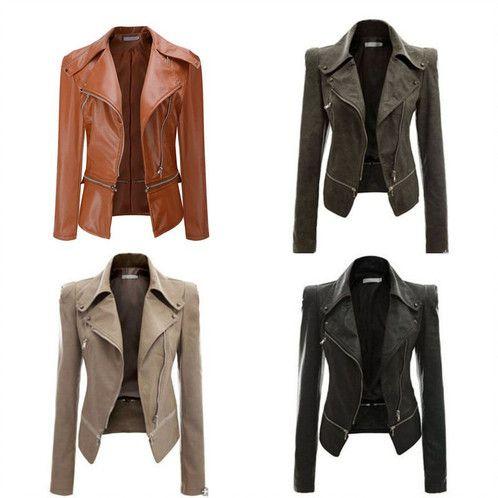 Manteaux De Cuir, Vestes En Faux Cuir, Cuir Velours, Moto Pour Femmes, Manteaux  Pour Femmes, Fermetures Éclairs, Motos, Short, Ebay cfb49c9e759