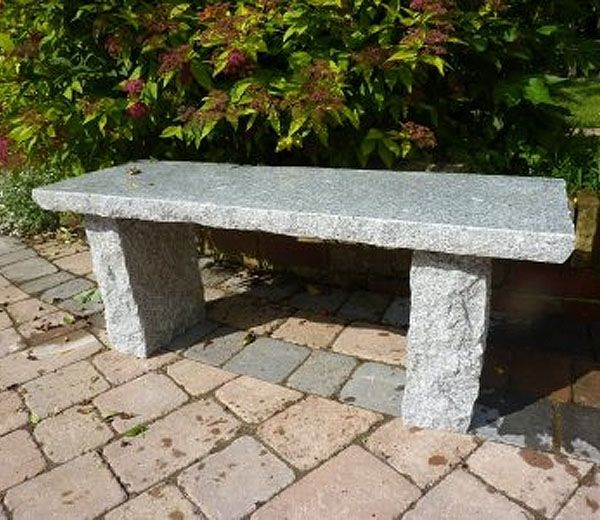 Granite Bench Straight And Rustic Stone Garden Bench Natural
