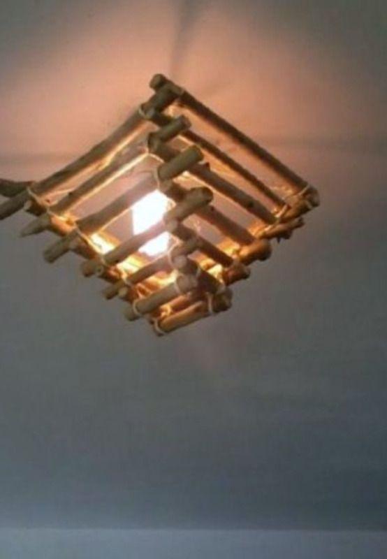 lustre en bois flott luminaires esprit nature fait. Black Bedroom Furniture Sets. Home Design Ideas