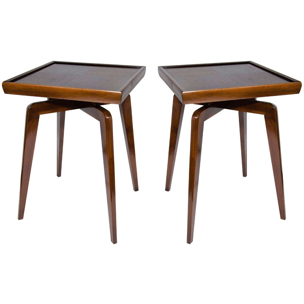Bon Elegant Image Of Furniture For Living Room Decor With Mid Century Modern  Side Table : Killer Image Of Double Twin Decorative Wooden Mid Century  Modern Side ...