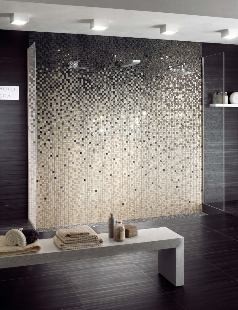 four seasons mosaici da rivestimento - mosaico degradè a #bathroom ... - Bagni In Mosaico Moderni
