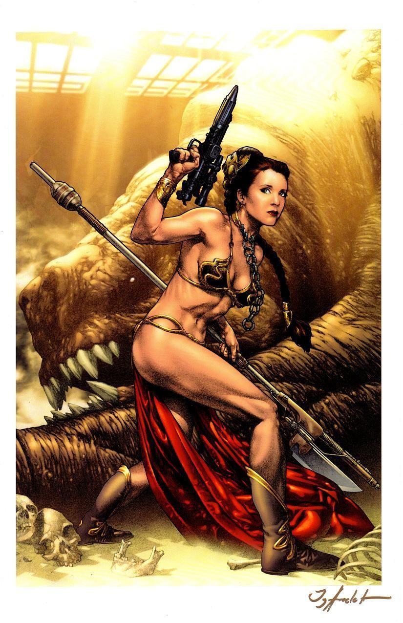 Star Wars Slave Leia Signature Edition Art Print by Jay Anacleto   eBay