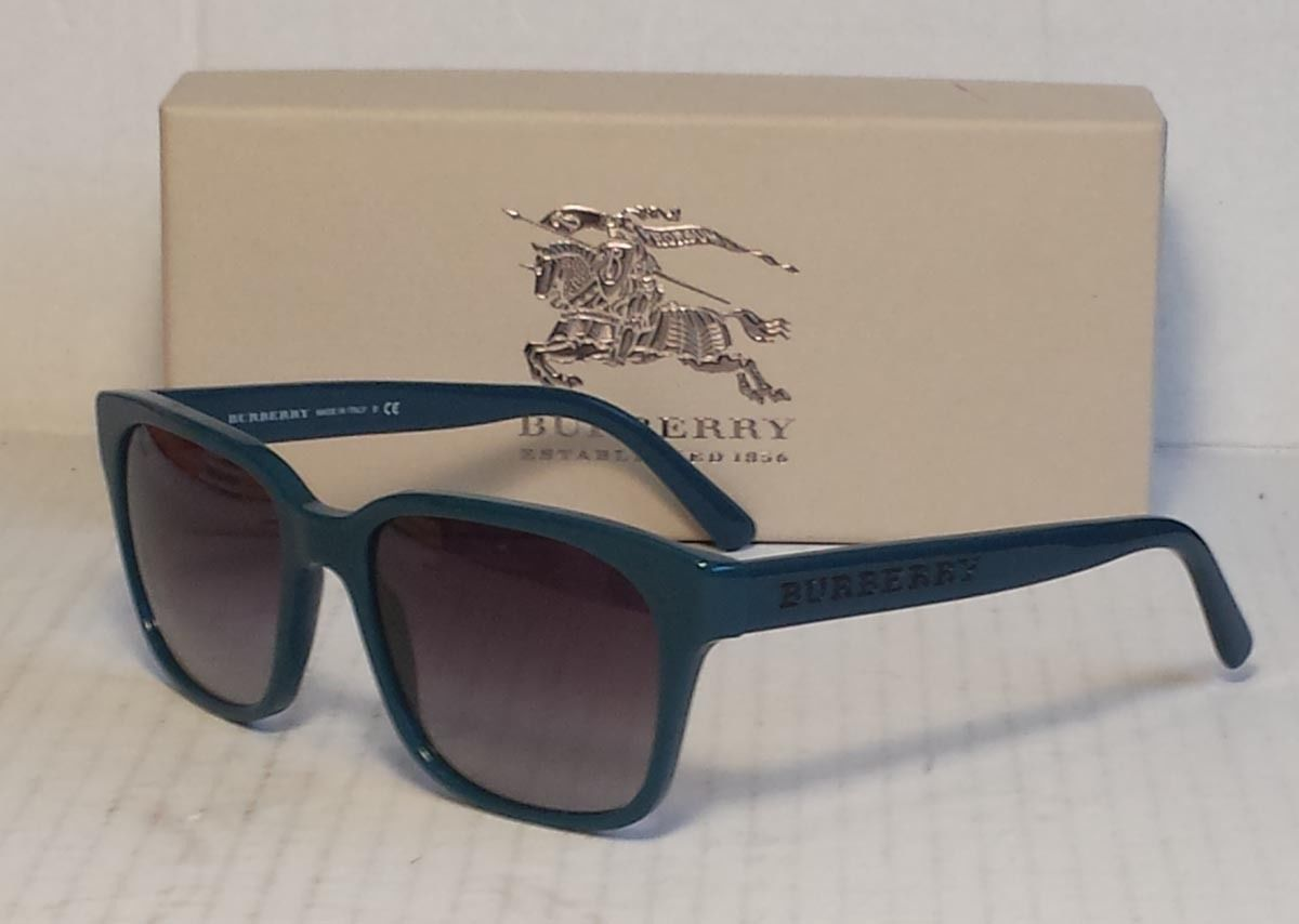 #accessories sunglasses women Burberry women sunglasses B 4140 blue frame  black lens Made in Italy