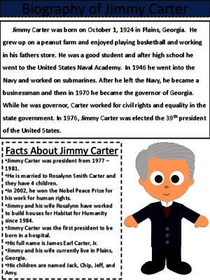 Jimmy Carter Reading and Writing Lessons from Loads of ...