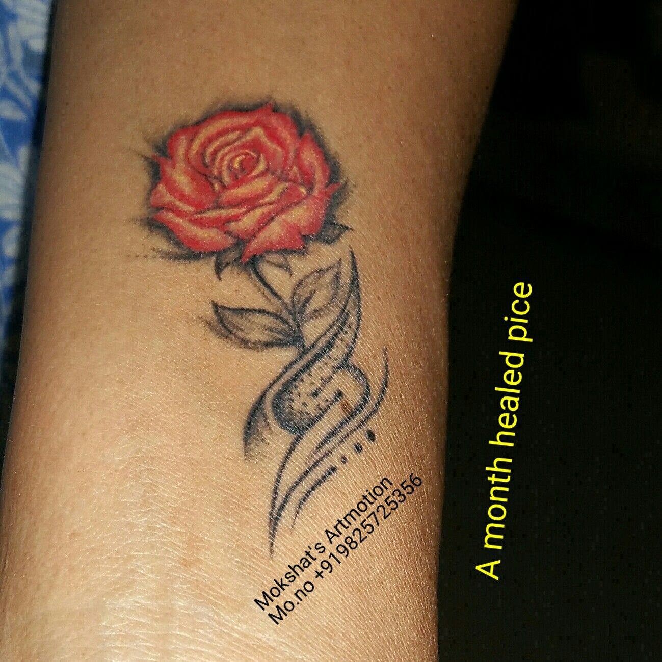 3d Rose Tattoo With S Lettering Realistictattoo