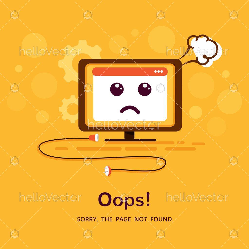 404 Error Page Template Design Download Graphics Vectors In 2020 Template Design Page Template Error Page