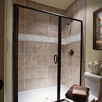 Framed Glass Shower Enclosures Allow For Great Creative Choices