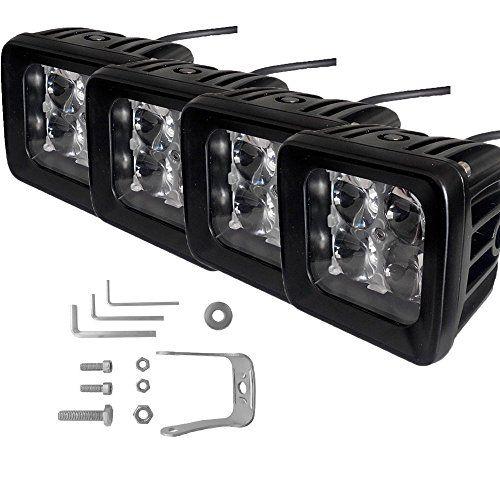 Tjmoto Cree 3inch 12w 4d Len Spot Led Fog Light Offroad Pods For Fordgmcchevydodgetoyotajeep Truck Polaris Rzrteryx Mulerhino Ca Led Fog Lights Car Lights Cree