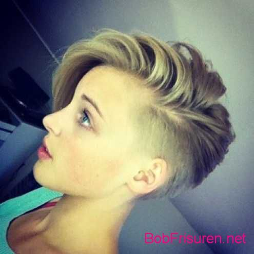 Undercut Frisuren Frau Mittellang Kurzhaarfrisuren Short Hair