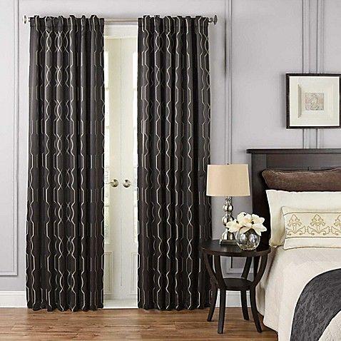 Beautyrest Yvon Rod Pocket Back Tab Room Darkening Window Curtain