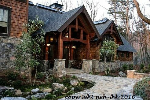 Rocky Mountain Lodge — Rustic Mountain House Plans | Amicalola Home Plans