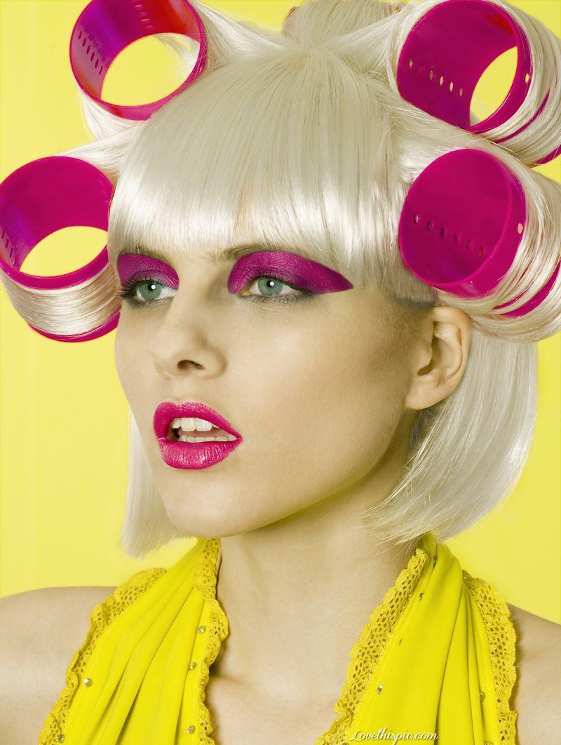 High Fashion Hair Salon Fashion Girly Hair Blond Pink Makeup Cool Pretty Yellow Modern Hair Hair Styles High Fashion Hair High Hair Beauty