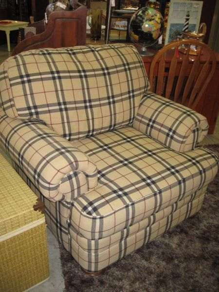 Hickory Hill Overstuffed Chair Burberry