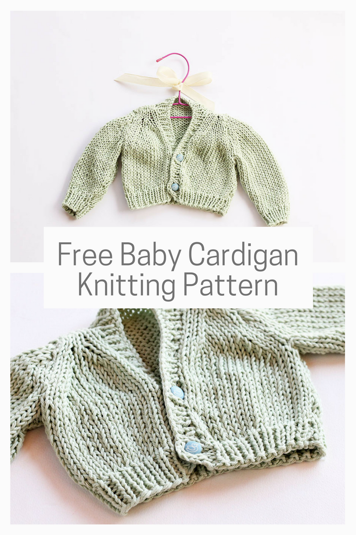 8 Baby Knitting Patterns For Spring | Baby cardigan ...