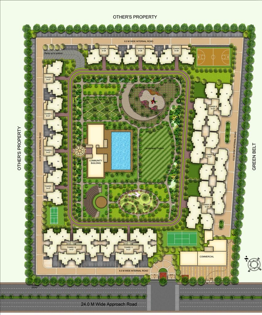 Best Layout Plan And In Society All Amenities Are Available Kids Play Area Badminton Court Jogging Track Pool Clu Happy Trails How To Plan