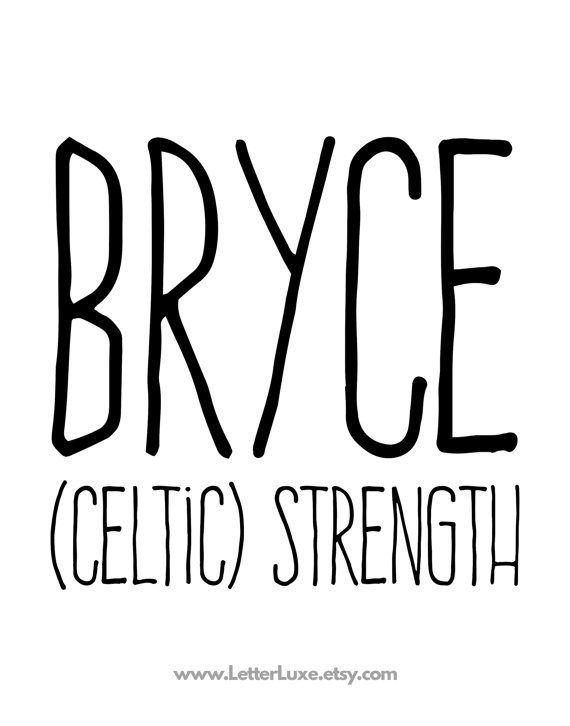 Bryce name meaning printable nursery art baby shower by letterluxe bryce name meaning printable nursery art baby shower by letterluxe negle Images