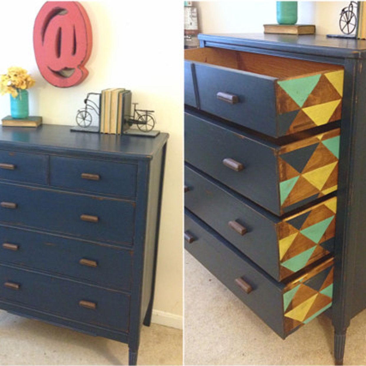 Attic Features The Latest Vintage Antique And Used Furniture From Stores And Dealers Throughout The Wa Geometric Furniture Painted Furniture Artisan Furniture