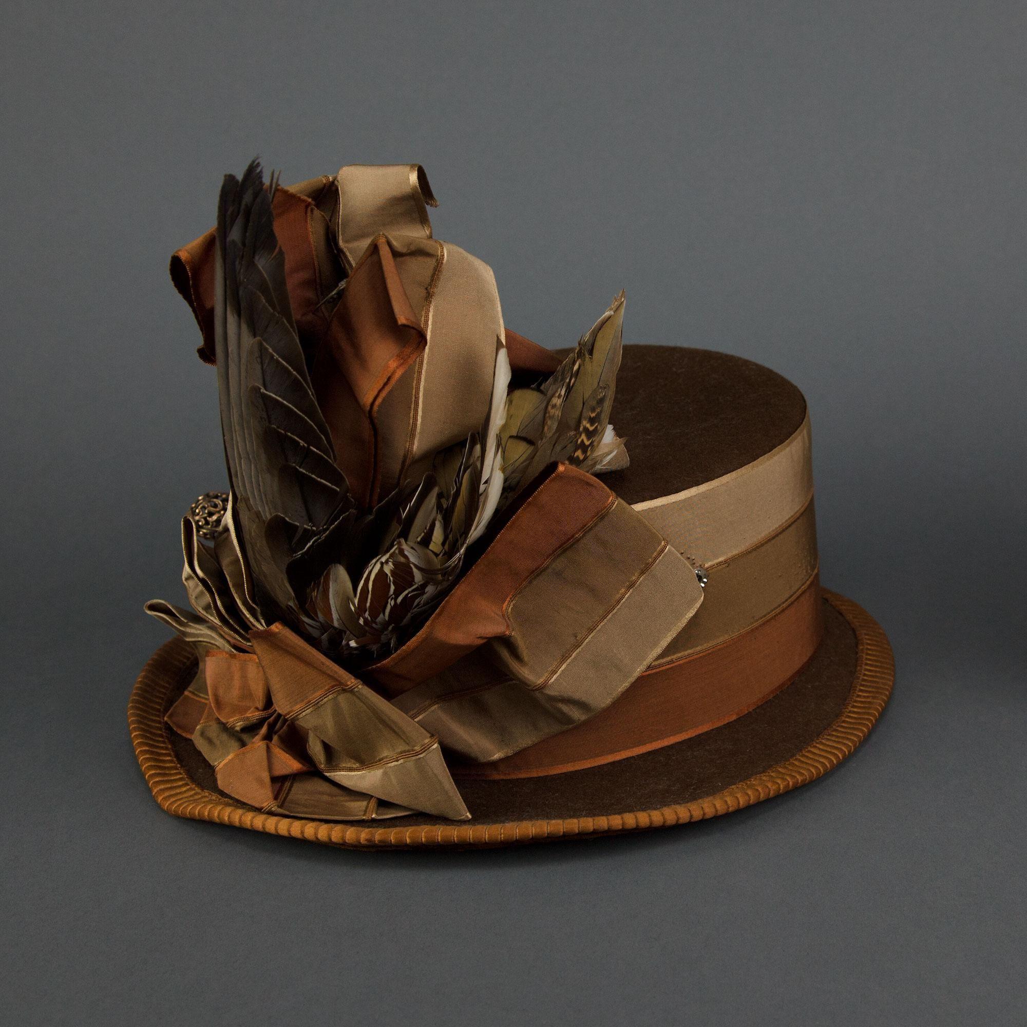 Going-away hat (image 3) | 1888 | Oakland Museum of California | Item #: H4442.43U