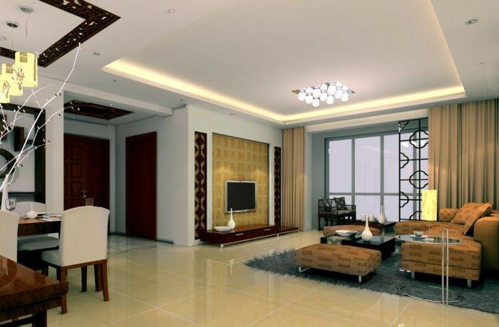 nice deckenbeleuchtung wohnzimmer deckenleuchte offener wohnplan - wohnzimmer offene decke