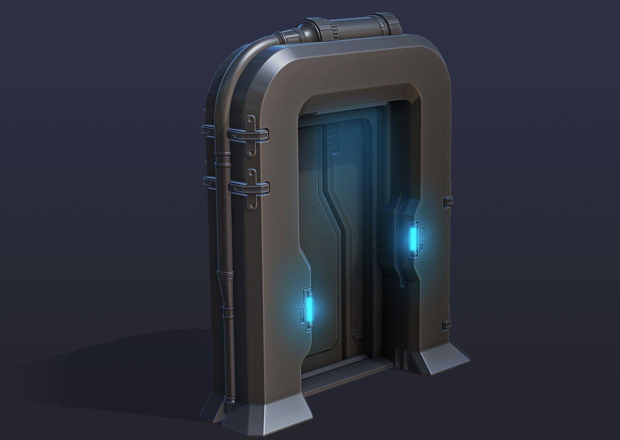 Scifi Door By Matt Salladay On Artstation Drones Concept Sci Fi Props Sci Fi