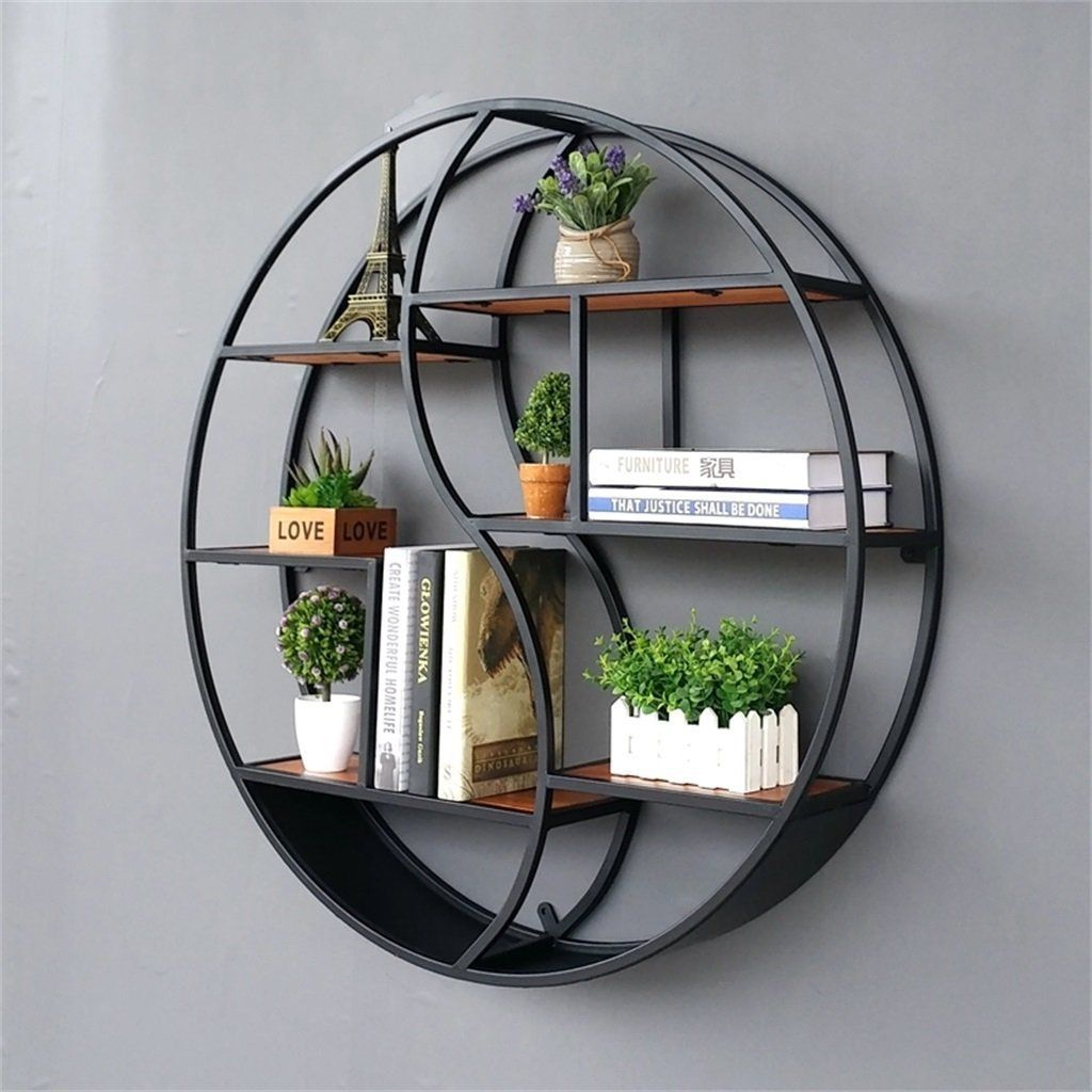 lil round wall mounted shelves wall mount retro four tier on wall mount bookshelf id=45199