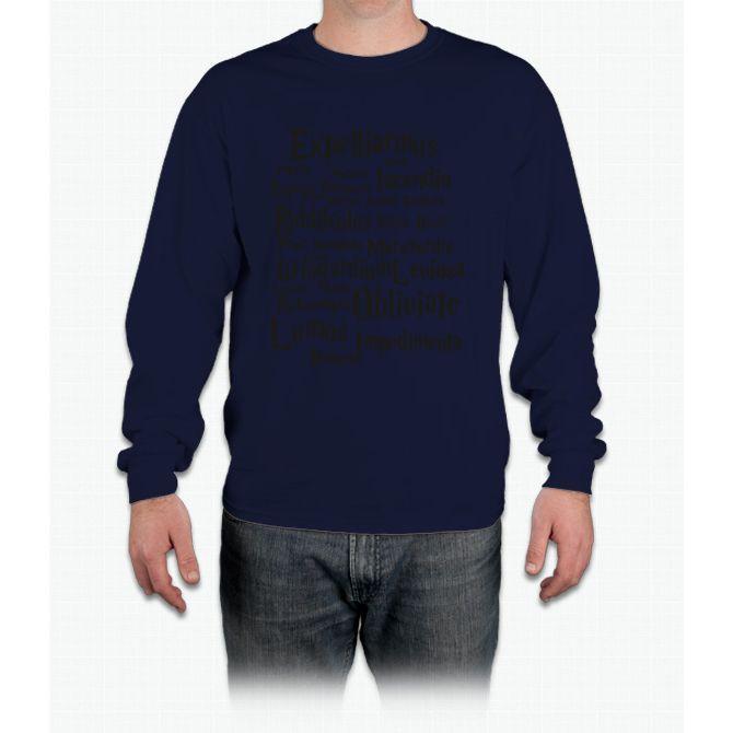 Harry Potter Spells! Long Sleeve T-Shirt