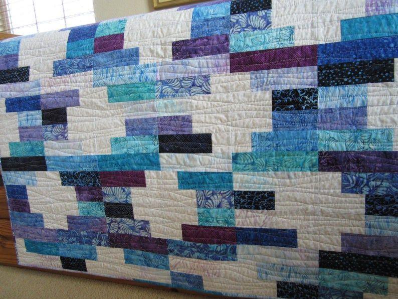 Quilts Homemade Patchwork Quilt Jewel Tones Handma