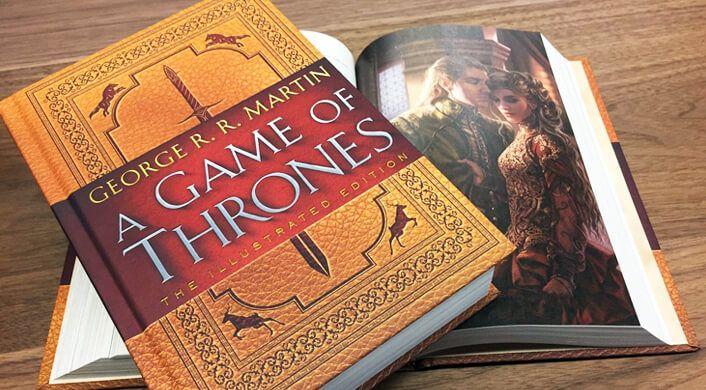 Em outubro, a Random House lançoua edição ilustrada de A Game of Thrones, e também a GRRM Box, uma versão limitada de caixa de assinaturas...