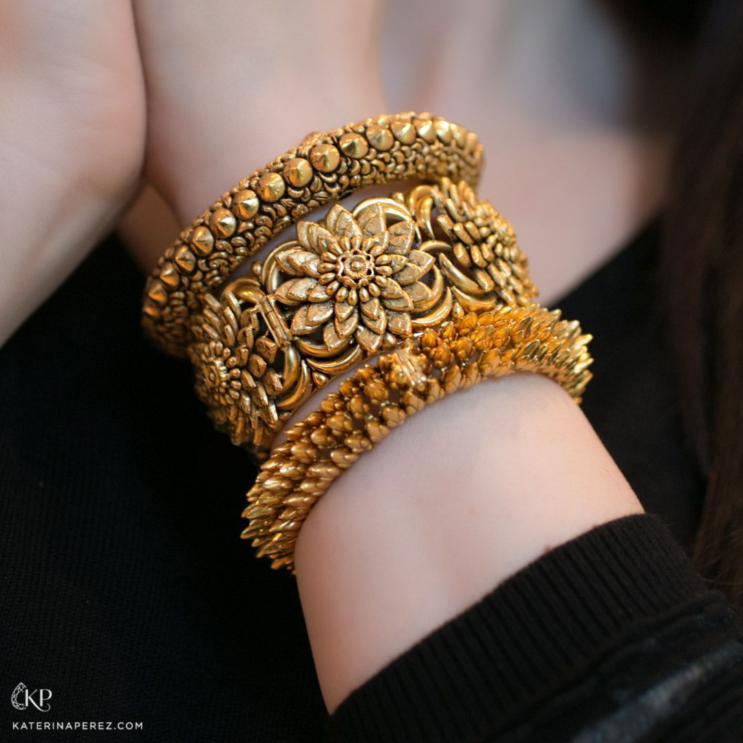 Jaipur gems gorgeous gold chocker bracelet indianjewelry love