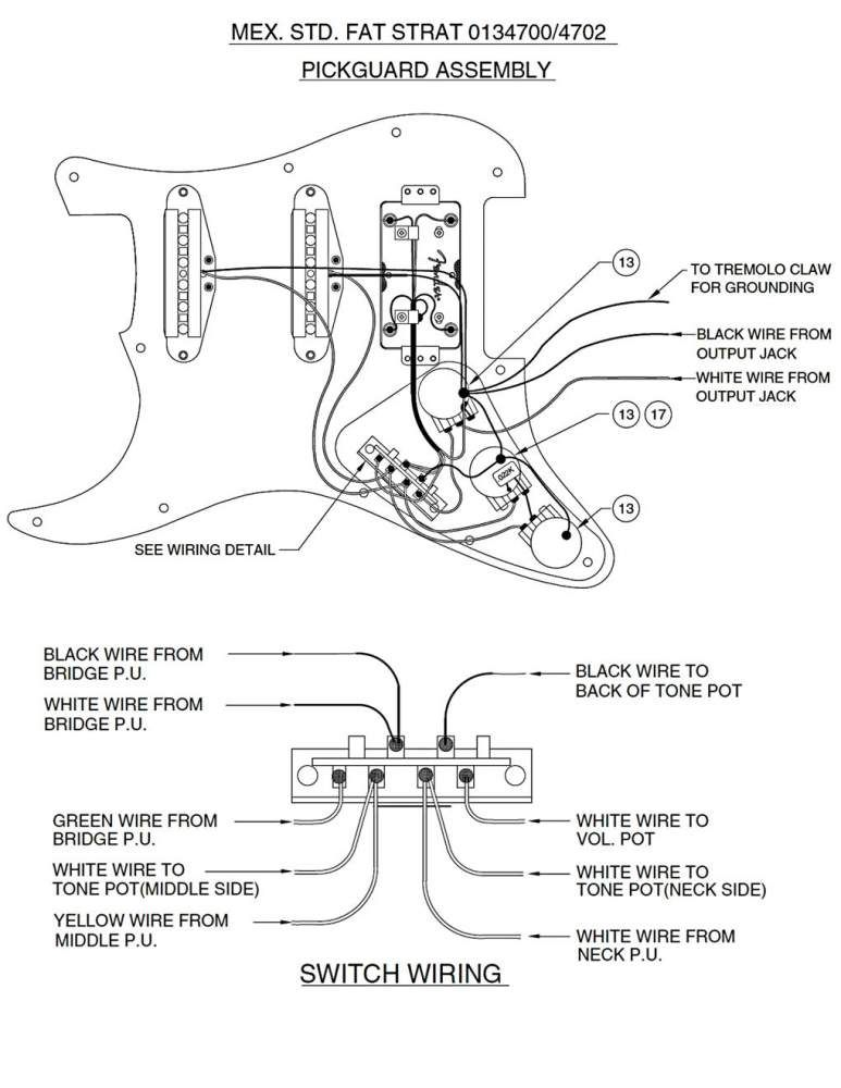 fender fat strat wiring diagram fender image fender fat strat wiring diagram fender auto wiring diagram schematic on fender fat strat wiring diagram